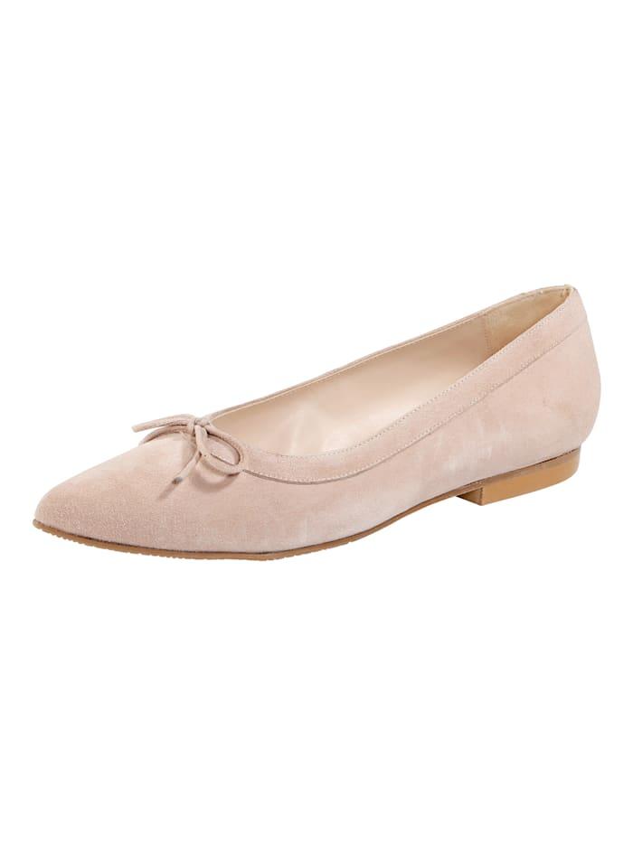 Gennia Ballet Court shoes in a beautiful suede, Rosé