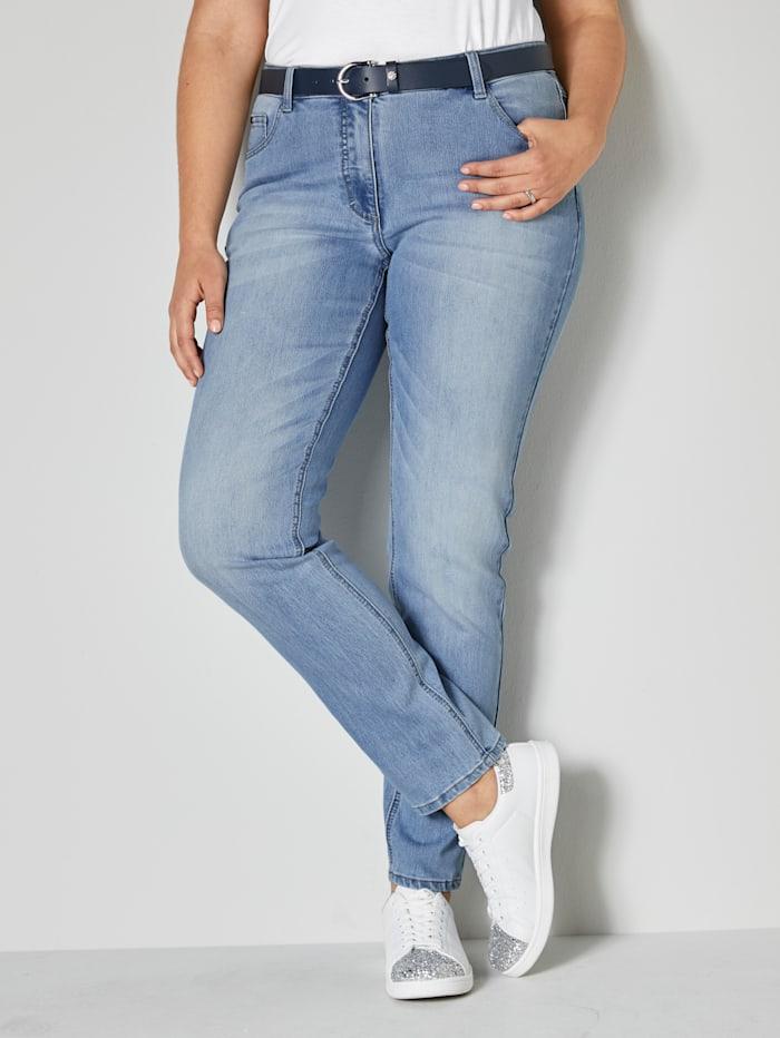 Angel of Style Jeans Carla Slim Fit, Hellblau