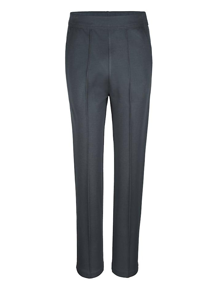 Pantalon de loisirs à plis surpiqués, Anthracite