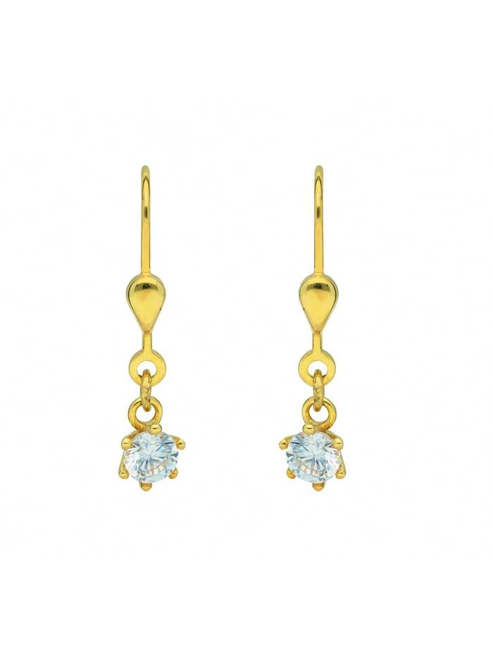 1001 Diamonds 1001 Diamonds Damen Goldschmuck 333 Gold Ohrringe / Ohrhänger mit Zirkonia, gold