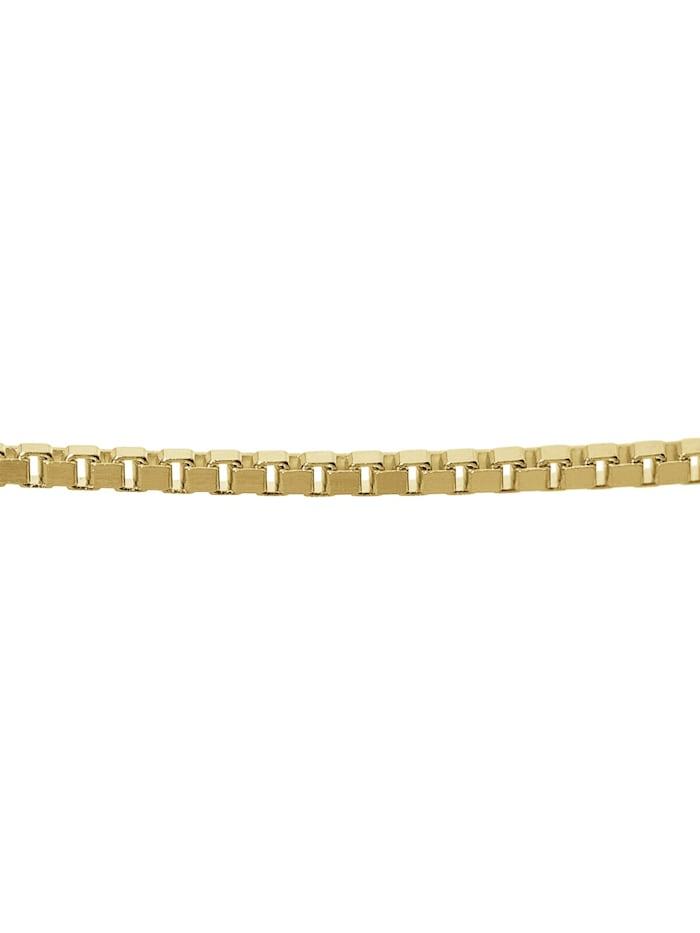 Anhänger Fisch Gold 333 an goldplattierter Silber-Kette