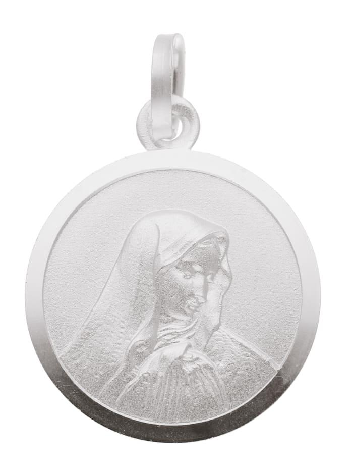 1001 Diamonds Damen Silberschmuck 925 Silber Anhänger Dolorosa Ø 16 mm, silber