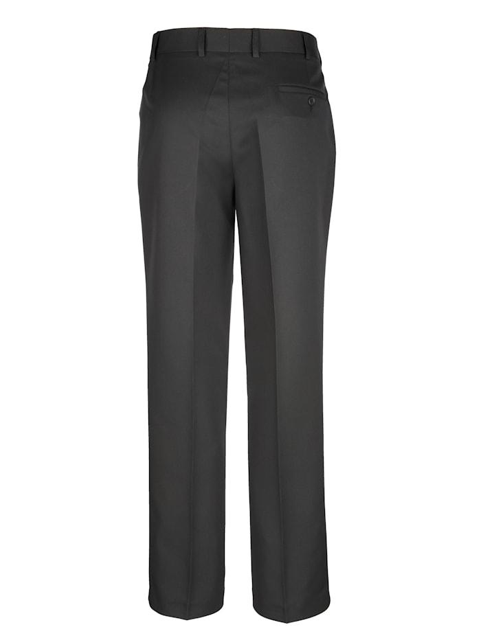 Pantalon sans pinces en matière agréable à porter