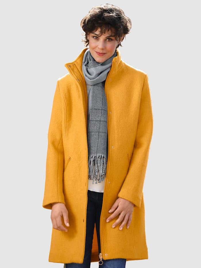 Dress In Mantel mit körnigem Griff, Gelb