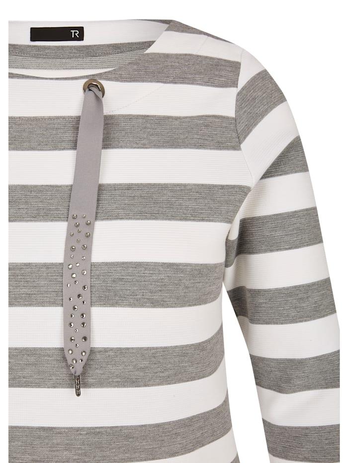 Shirt mit Ringelmuster und ¾-Ärmeln