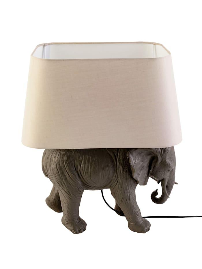 IMPRESSIONEN living Tischleuchte, Elephant, Grau/Beige