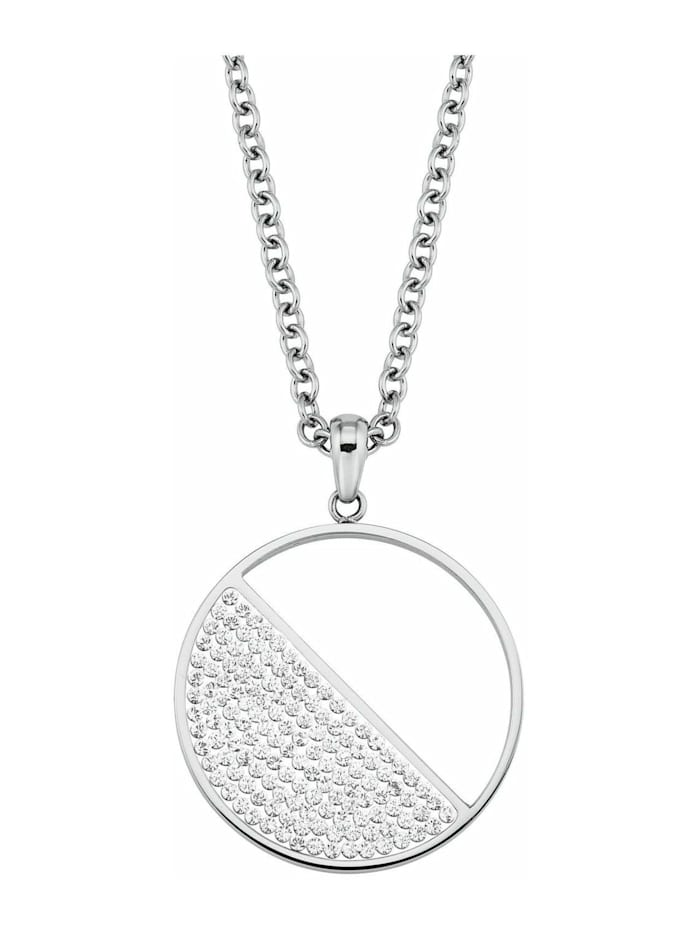 s.Oliver Kette mit Anhänger für Damen, Edelstahl, Swarovski Kristall®, Silber