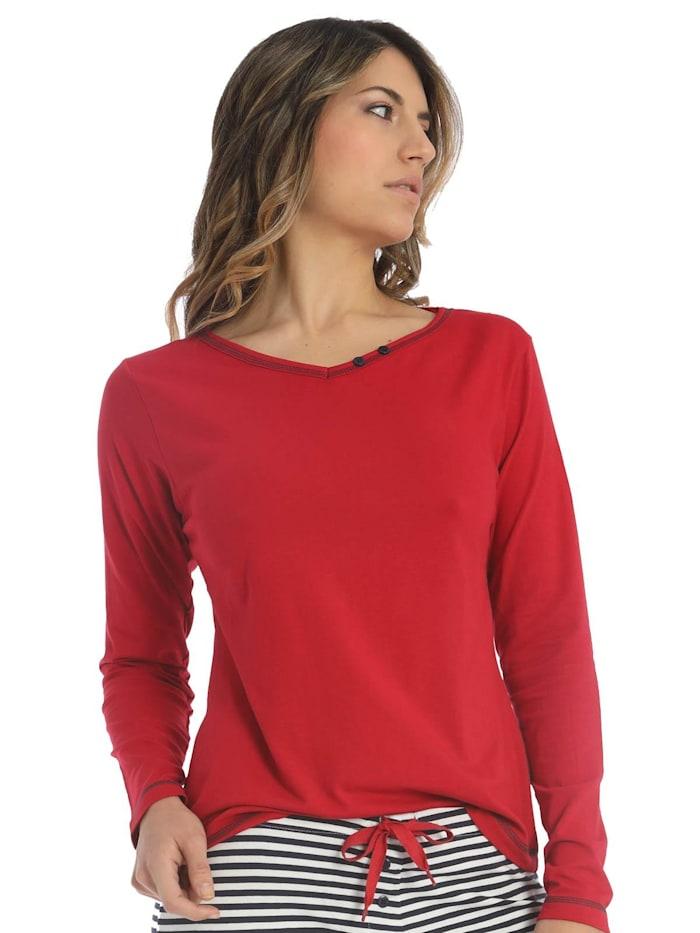 sassa Damen T-Shirt Lang Sea Spirit, Red