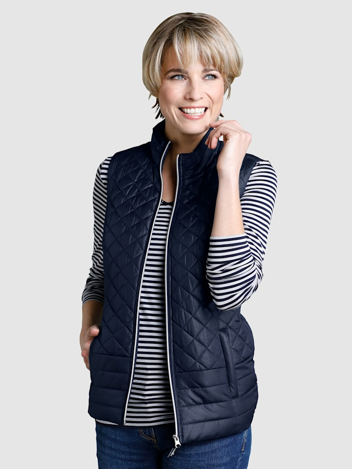 Quilted Gilet with a stand-up collar