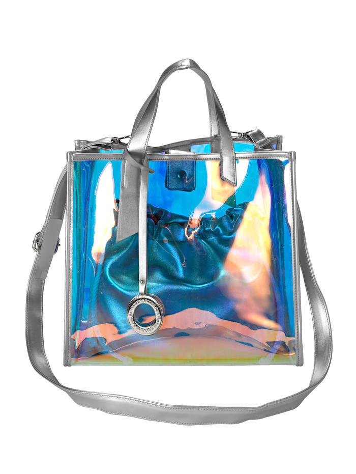 Emma & Kelly Käsilaukkusetti, 2-os. 2-osainen, hopeanvärinen
