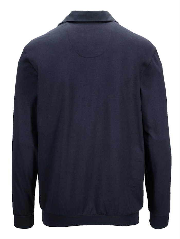 Shirt met beleg van velours