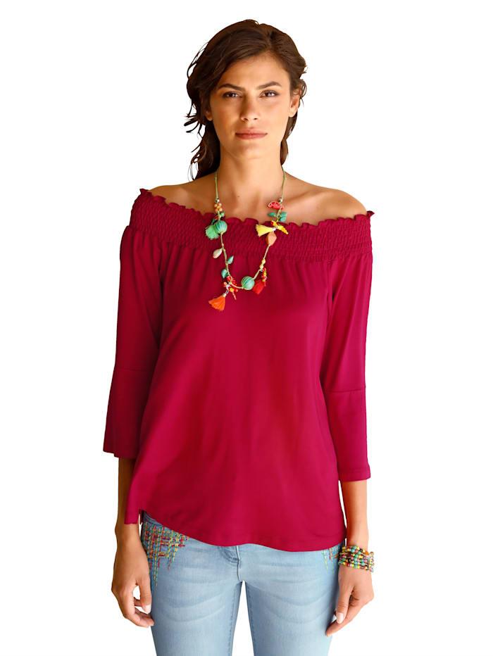 Shirt mit Carmen-Ausschnitt