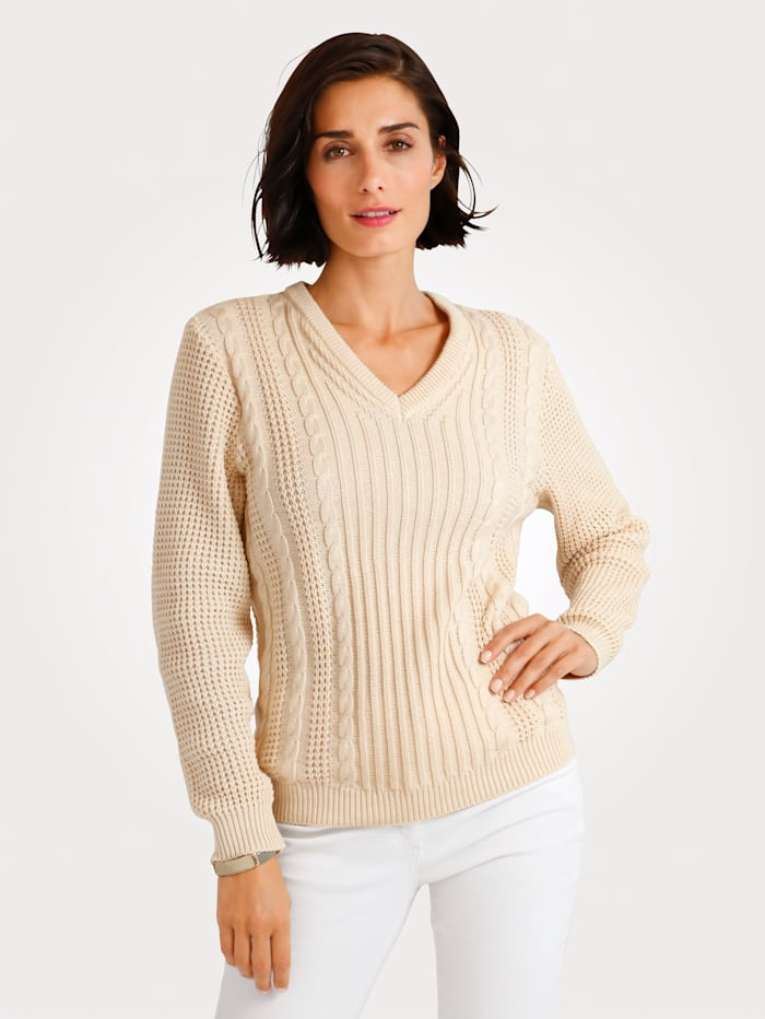 Jumper with cable knit detailing