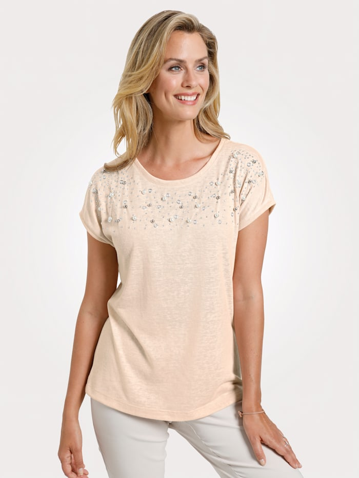 Top with faux pearl detailing