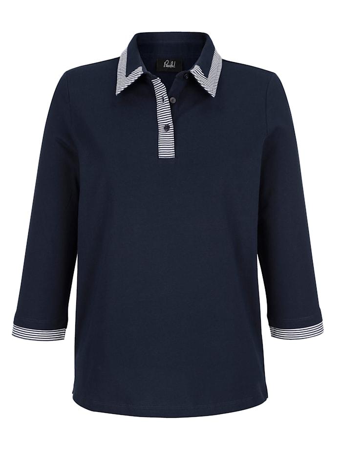 Shirt in kontrastfarbener Verarbeitung