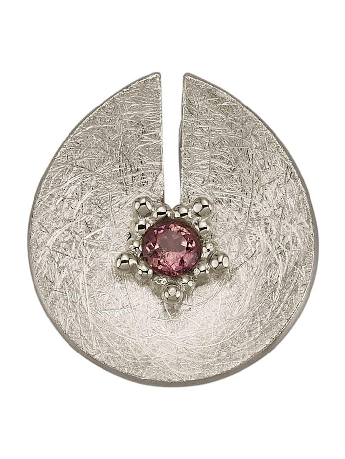 Diemer Atelier Anhänger mit rosafarbenem Turmalin, Silberfarben