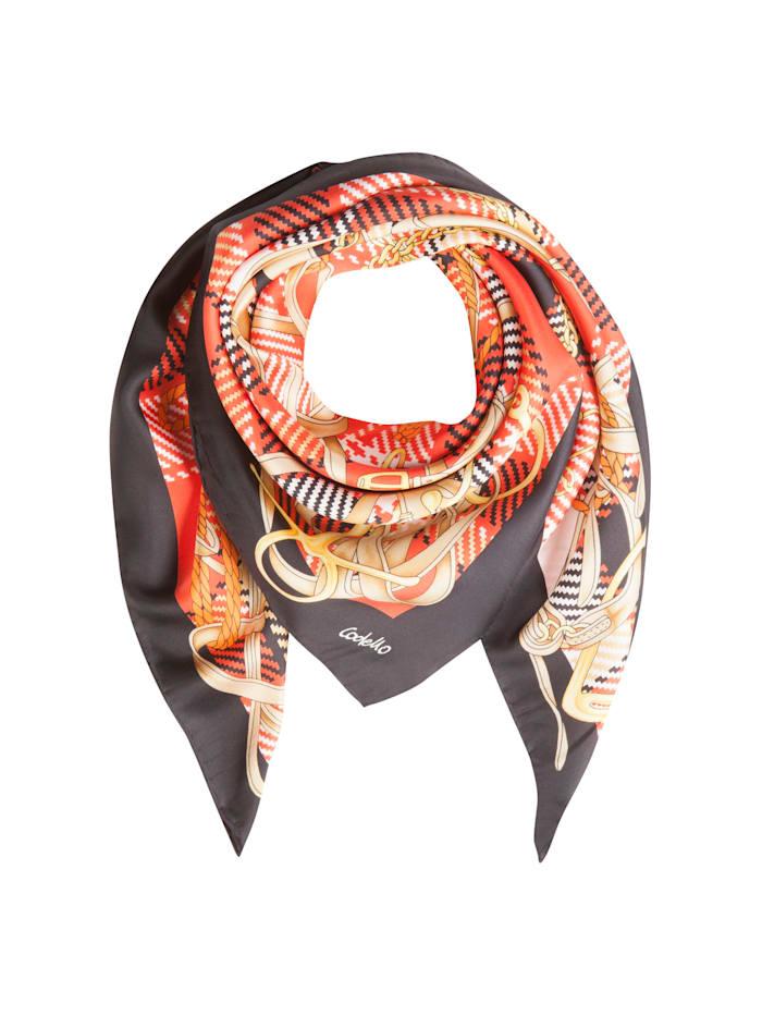 Codello Großes Seidentuch mit elegantem Foulard-Muster, red