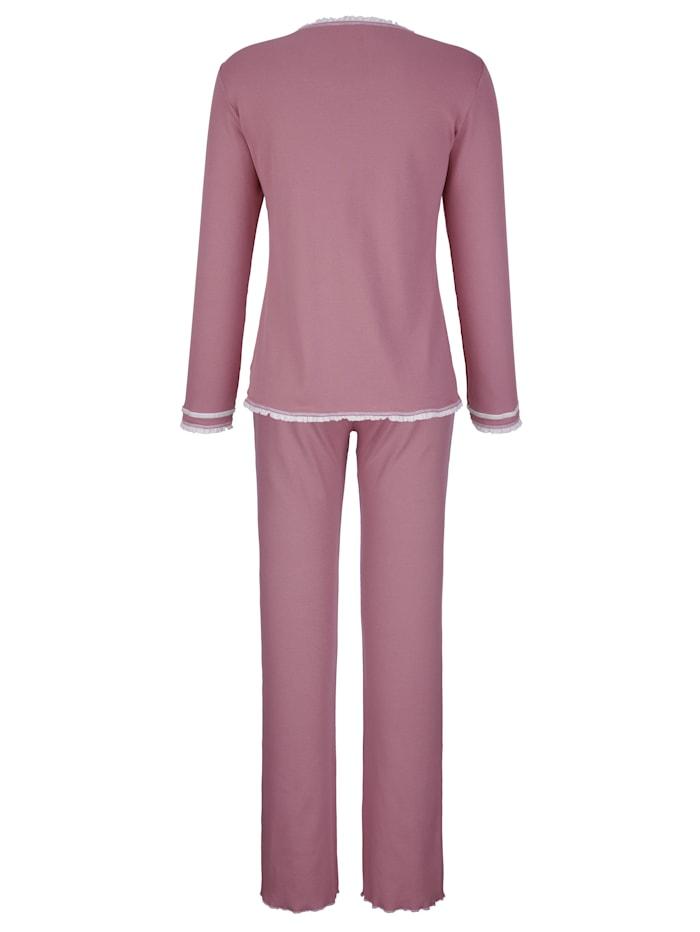 Pyjamas i ribbad jersey
