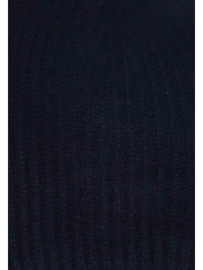 Beanie Gerippte Mütze aus Kaschmir