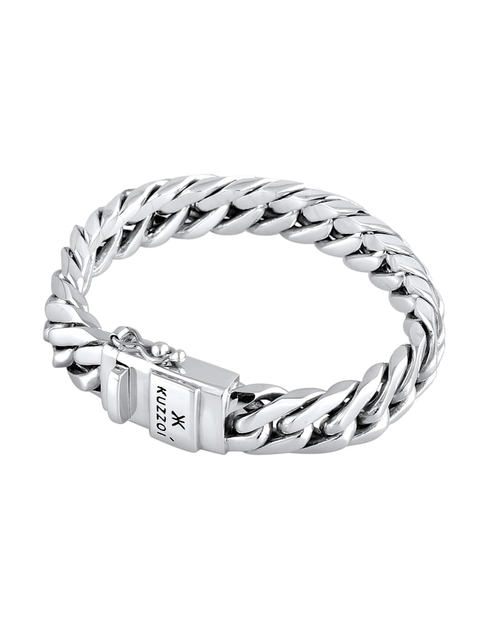 Armband Herren Panzerarmband Kastenverschluss 925Er Silber