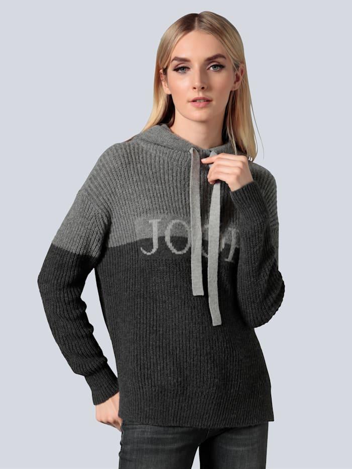JOOP! Pullover mit plakativem Logo, Dunkelgrau