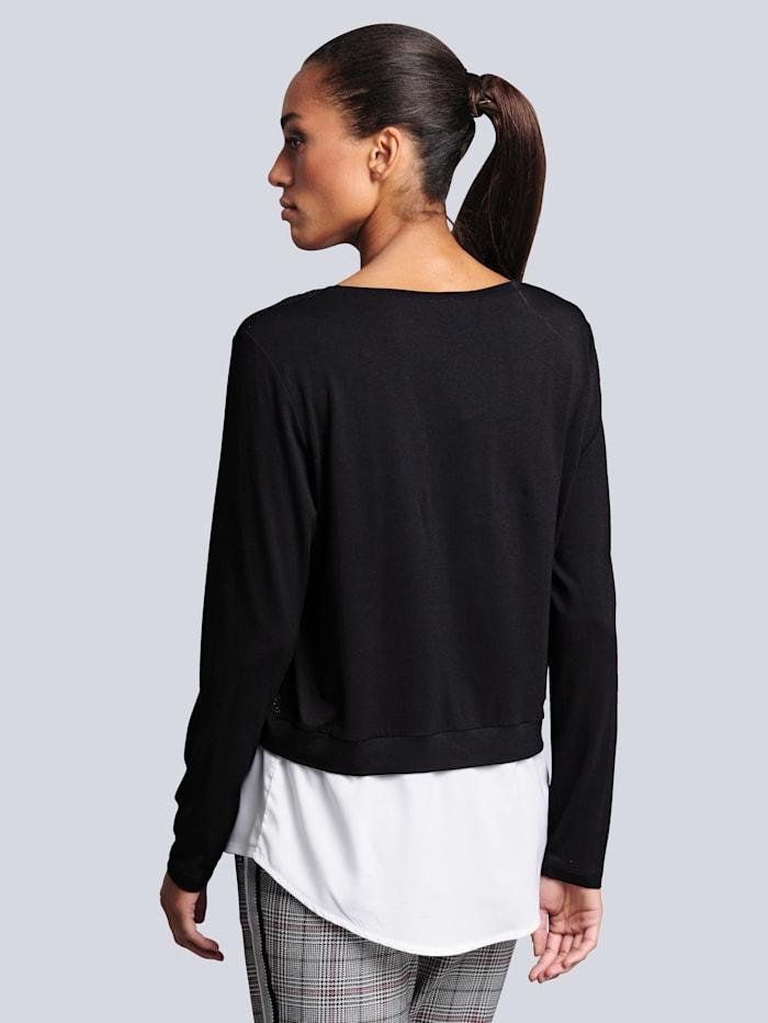 Sweatshirt Im Vorderteil aus strukturierter Ware  mit Glitzereffekt
