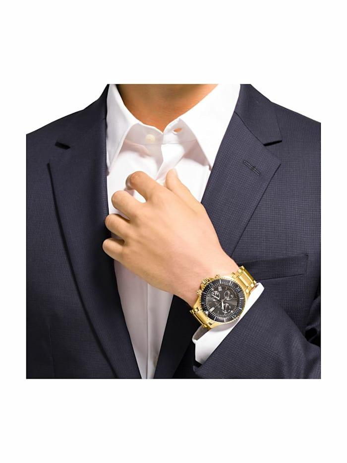 Chronograph für Herren, Edelstahl IP Gold