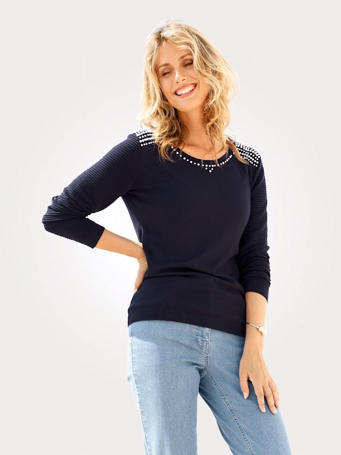 Pullover mit Perlen-Dekoration