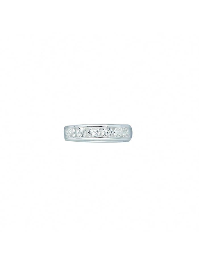 1001 Diamonds Damen Silberschmuck 925 Silber Anhänger Taufring mit Zirkonia Ø 9,1 mm, silber
