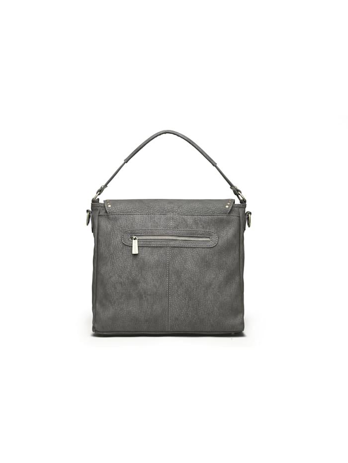 Handtasche Berlin aus strukturiertem, griffigen Material mit Reißverschluss auf der Rückseite