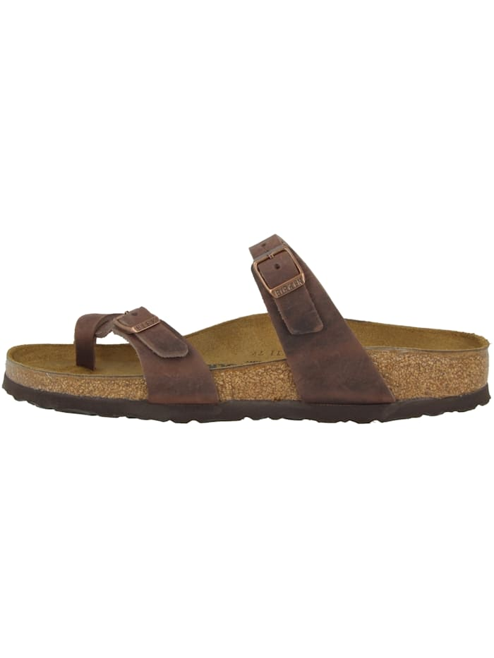 Birkenstock Sandale Mayari geöltes Nubukleder normal, braun