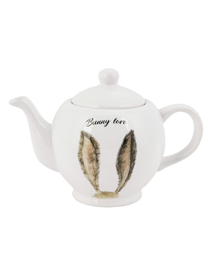 IMPRESSIONEN living Teekanne, weiß/braun