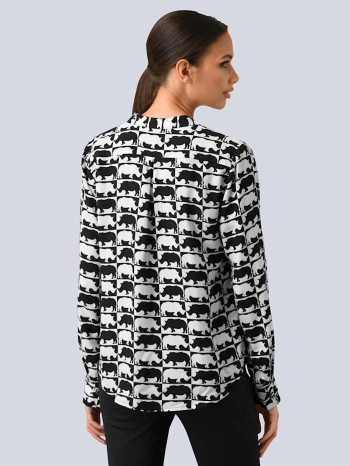 Bluse im Animal- Dessin