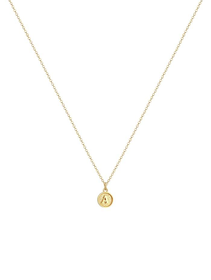 Halskette Buchstabe A Initialen Vintage Plättchen 925 Silber