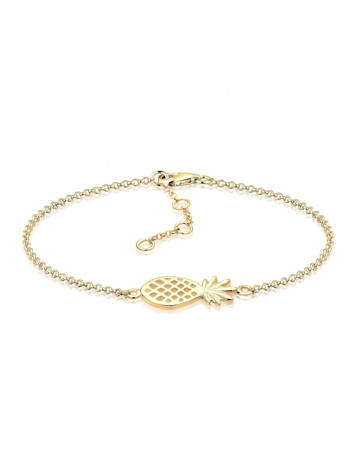 Elli Armband Ananas 925 Sterling Silber, Gold