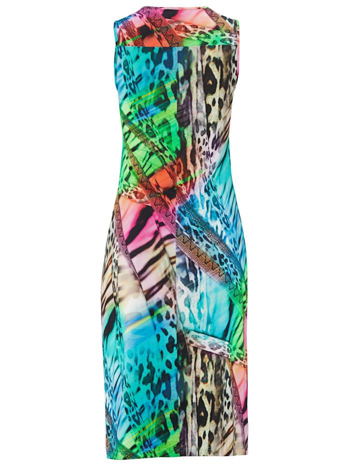 Strandkleid in bunten Regenbogenfarben