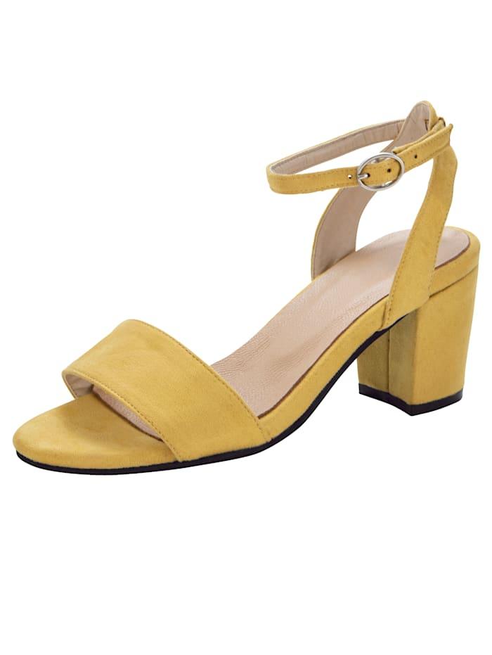 Sandales au look tendance, Jaune