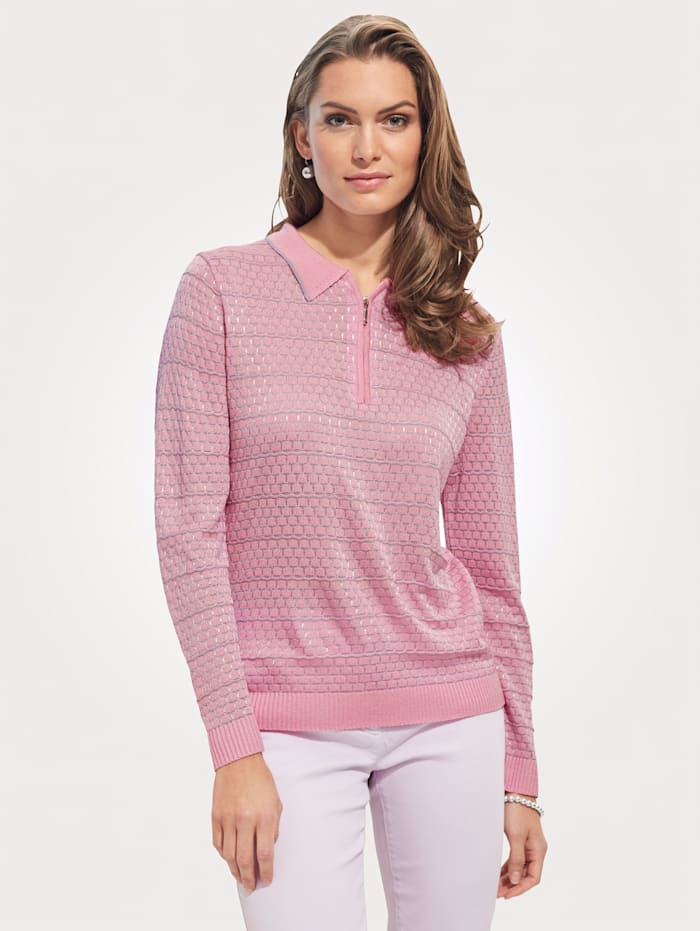 DiStrick Pull-over, Rose/Gris