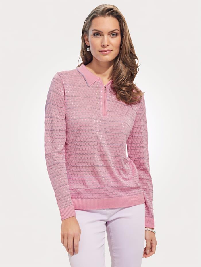 DiStrick Pullover, Rosé/Grau
