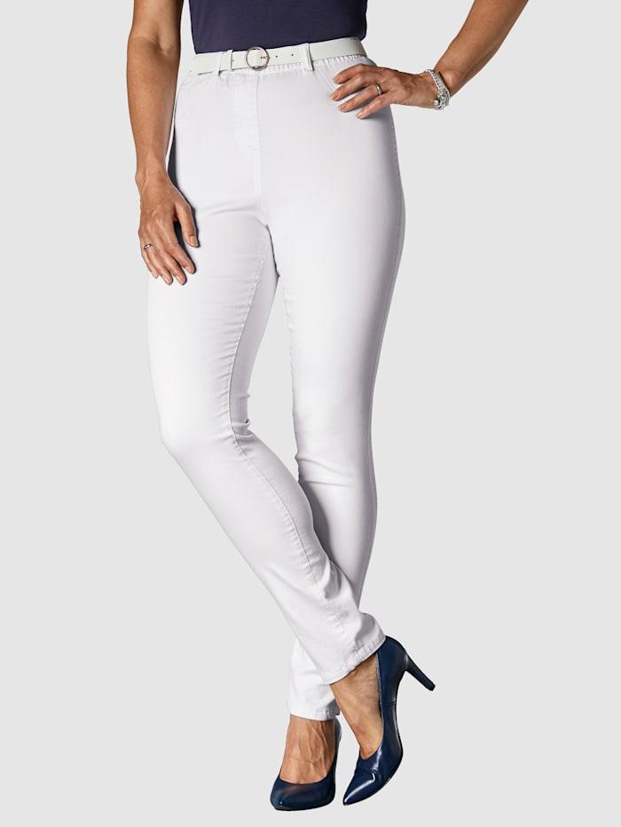 MIAMODA Jeggings mit praktischen Gürtelschlaufen, Weiß