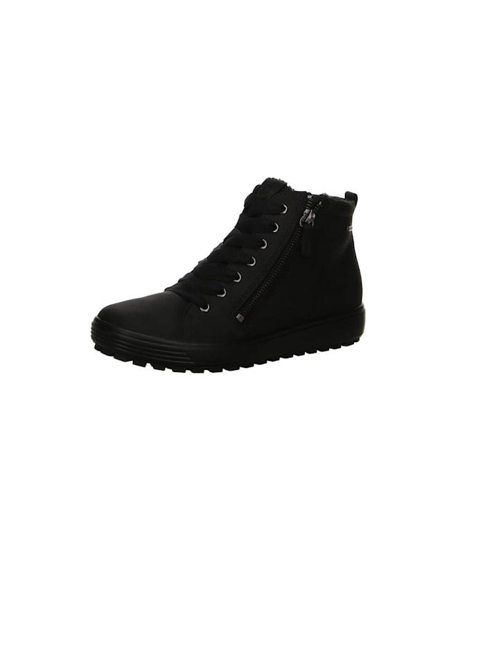 Ecco Damen Schnürschuh in schwarz, schwarz