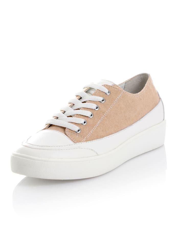 Gerry Weber Sneaker aus Textil, Beige/Weiß