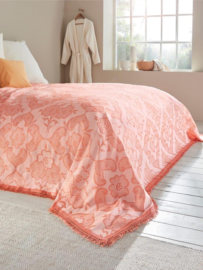 Webschatz Bettüberwurf 'CORA', apricot