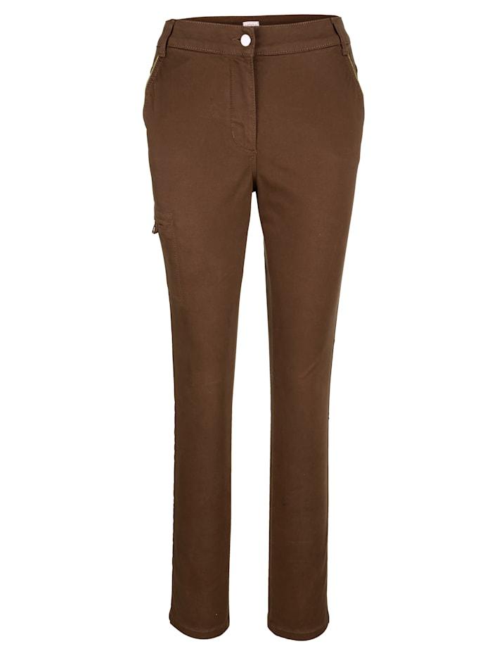 Pantalon à détails en fil brillant
