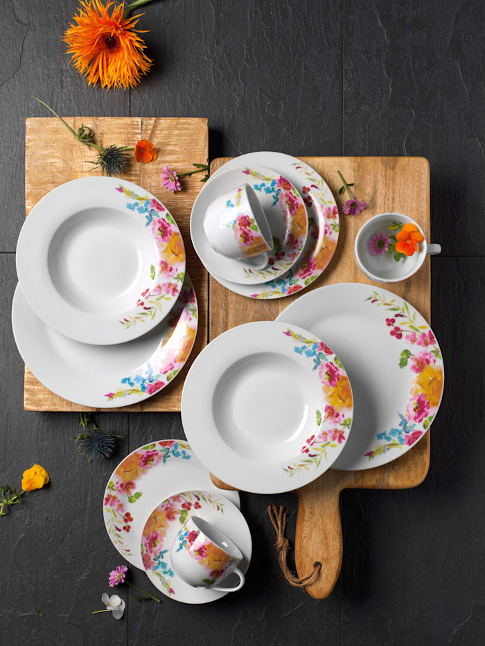 Creatable Matservis i 12 delar – Flower Dreams, flerfärgad
