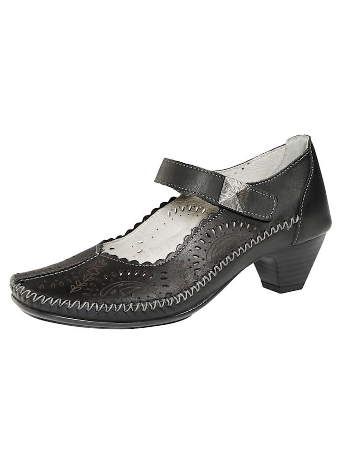 Naturläufer Court shoes with seam detailing, Black