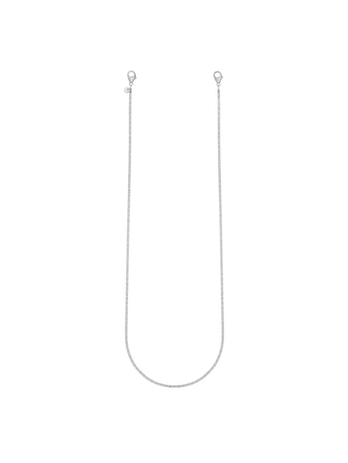 CAI Brillenkette Maskenkette 925/- Sterling Silber 70cm Diamantiert, weiß