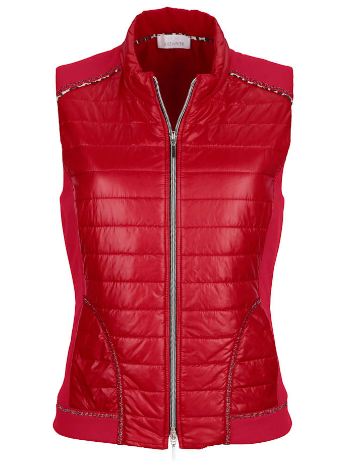 Padded Gilet With flattering jersey inserts