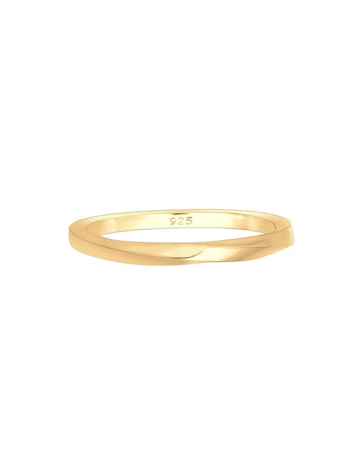 Ring Basic Bandring Gedreht Klassisch Trend 925 Silber