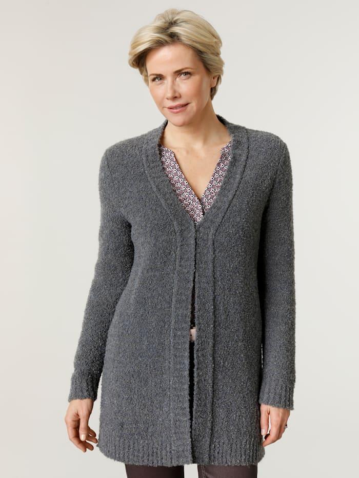 MONA Cardigan made from a chic bouclé fabric, Smoke Blue